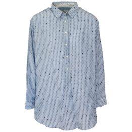 0039 Italy • blauwe blouse met strepen