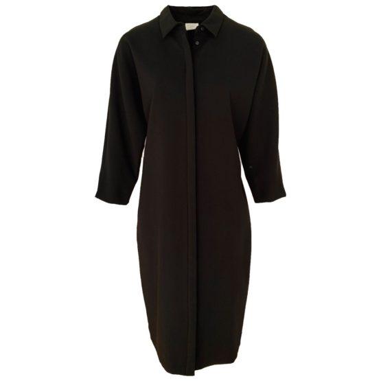 Stroke Amsterdam • zwarte overhemd jurk Javen