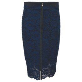Dorothee Schumacher • lange blauwe rok van kant