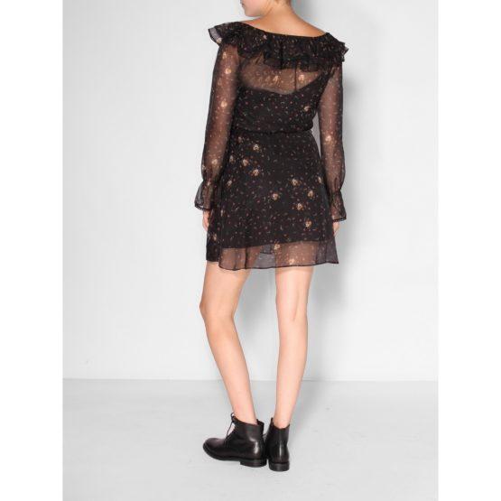 Patrizia Pepe • zwarte doorschijnende jurk met bloemen