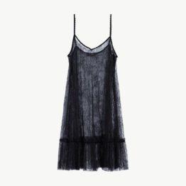 Twinset • zwarte kanten slip on dress