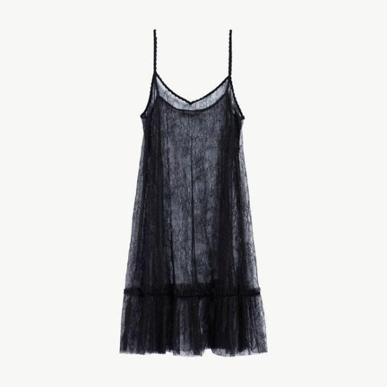 Twinset • zwarte kanten slip on dress