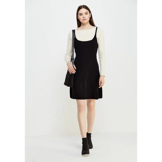 Twinset • zwarte mouwloze jurk