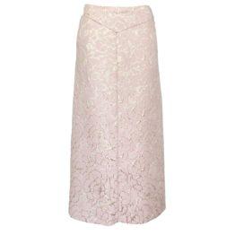 Dame Blanche • lange roze rok met goud motief