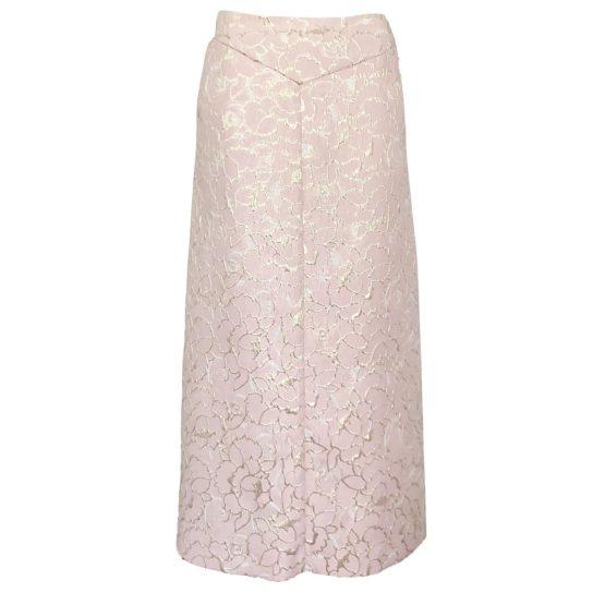 Wonderbaar Dame Blanche • lange roze rok met gouden details • shop BollyWolly.be VL-38