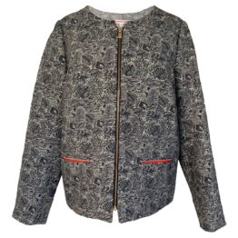 Hampton Bays • grijs jasje met een bladpatroon