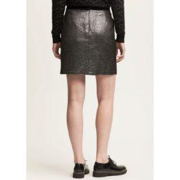 Scapa Sports • korte zilveren rok met zwarte tailleband