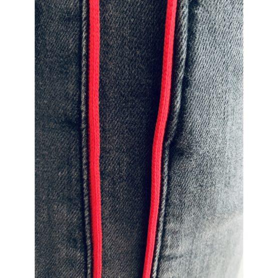 Hudson Jeans • zwarte jeans Zoeey high rise met rode bies