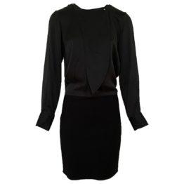 Notes du Nord • zwarte zijden jurk met stretch rok
