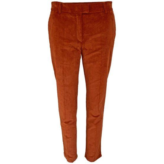 Paul & Joe • ribfluwelen pantalon in cognac