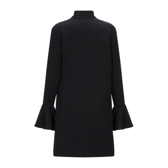 Atos Lombardini • zwarte jurk met volants en linten