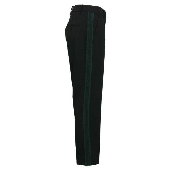 Cambio • zwarte pantalon Stella met groene bies