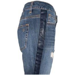 Liu Jo • blauwe jeans met beschadigingen en blauwe bies