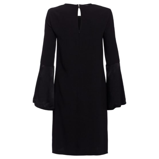 Marc Aurel • zwarte jurk met uitlopende mouwen