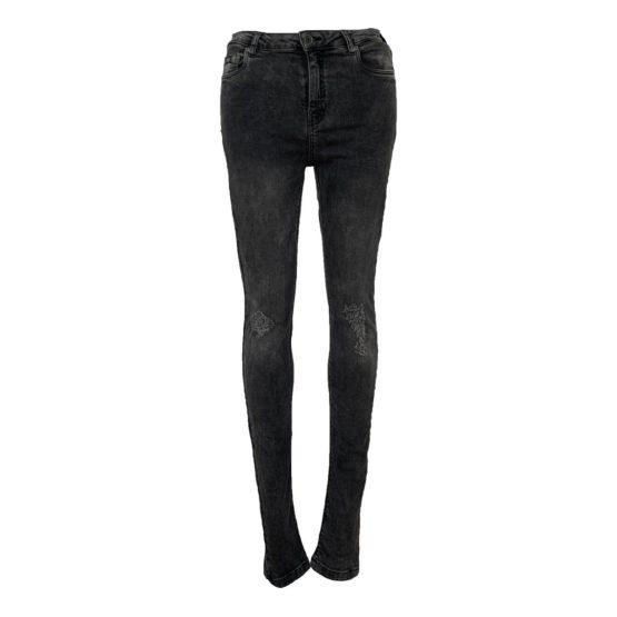Superdry • grijze skinny jeans met beschadigingen
