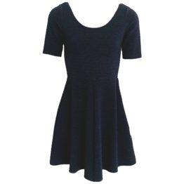 Superdry • donkerblauwe skater jurk met motief