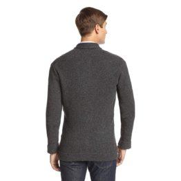 Ben Sherman • grijs wollen vest met knopen