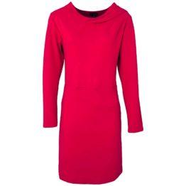 Enolah • effen rood paarse jurk