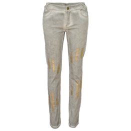 Jeff • grijze jeans met gouden strepen