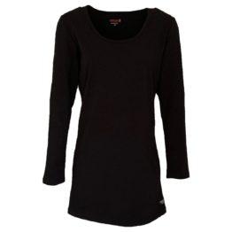 Mooi! • lang zwart t-shirt met ronde hals