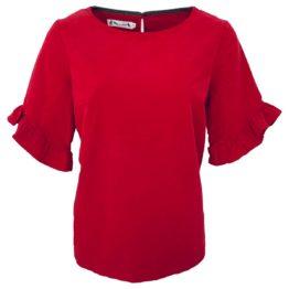 Thelma & Louise • rood ribfluwelen shirt