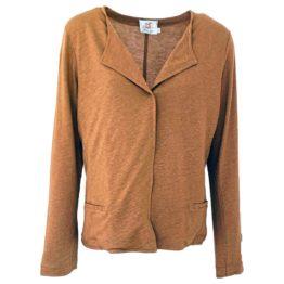 Thelma & Louise • bruin vest met een drukknopje