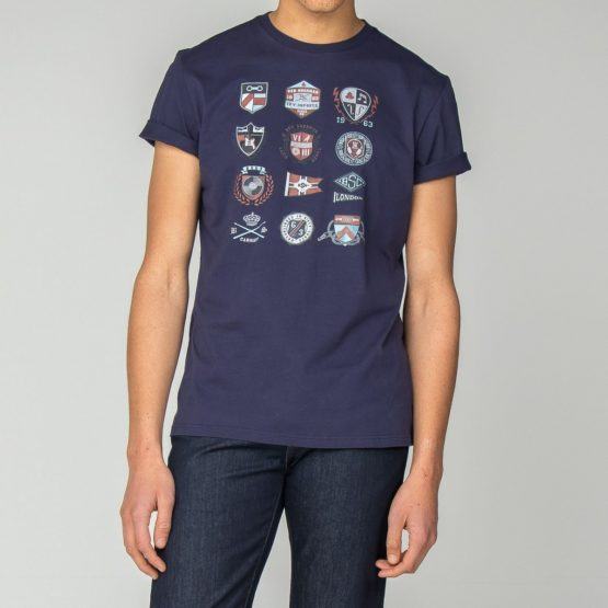 Ben Sherman • donkerblauw t-shirt met badges