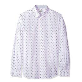 Ben Sherman • modern fit wit overhemd met korte streepjes