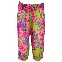 Cyell • knielange broek met bloemen motief