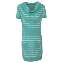 Hampton Bays • turquoise jurk met strepen