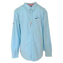Superdry • blauw regular fit overhemd met motief