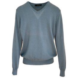 VNECK • blauwe trui met V-hals