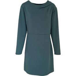 Enolah • effen grijze jurk met plooien