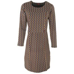 Enolah • jurk met zigzag motief