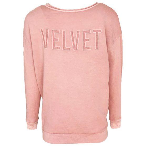Juul & Belle • roze sweater met velvet