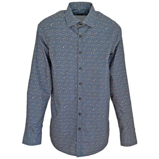 Zilton • donkerblauw overhemd met motief