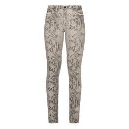 7 for all Mankind • champagne kleurige The Skinny Super Skinny jeans met snakeskin