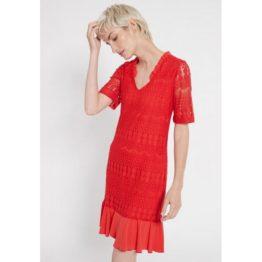 Ana Alcazar • rode jurk met kant