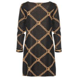 Ana Alcazar • zwarte jurk met kettingmotief
