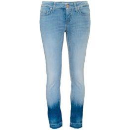 Cambio Jeans • blauwe Liu Short met steentjes