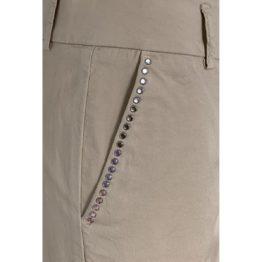 Cambio • pantalon Stella in zand met steentjes
