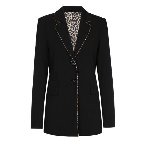 Caroline Biss • zwarte blazer met twee knopen