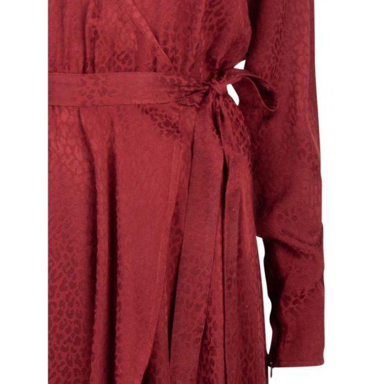 Dante6 • rode overslag jurk Dayna