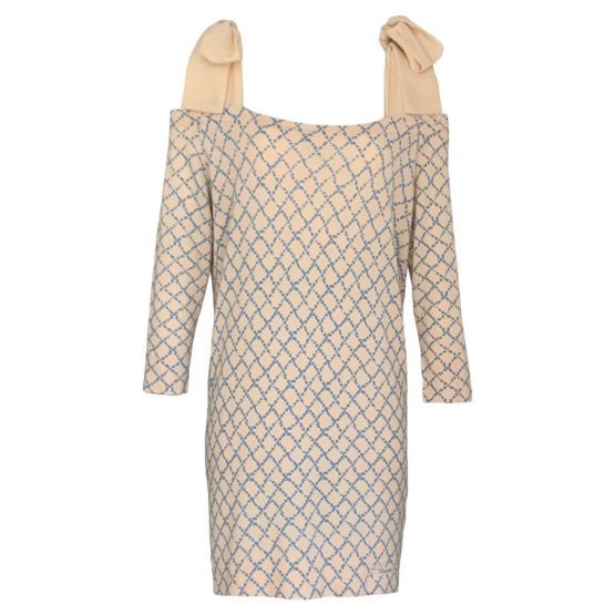 Elisabetta Franchi • geruite jurk met linten