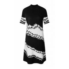 Marc Cain • zwart witte jurk met korte mouwen