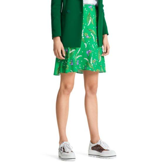 Marc Cain • groene rok met bloemen motief