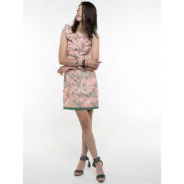 Patrizia Pepe • korte roze jurk met bloemenprint