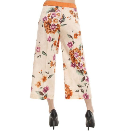 Twinset • losvallende pantalon met bloemen