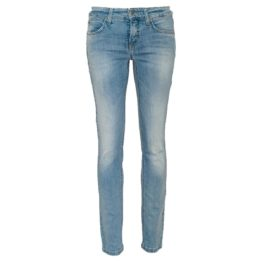 Cambio Jeans • blauwe Liu jeans met strass steentjes