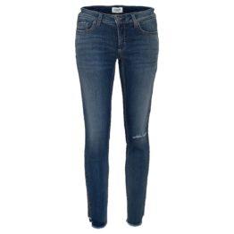 Cambio Jeans • blauwe Liu short jeans met beschadigingen
